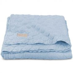 Couverture Fancy knit bleu layette (100 x 150 cm)
