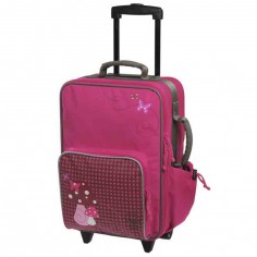 Valise trolley Champignons magenta