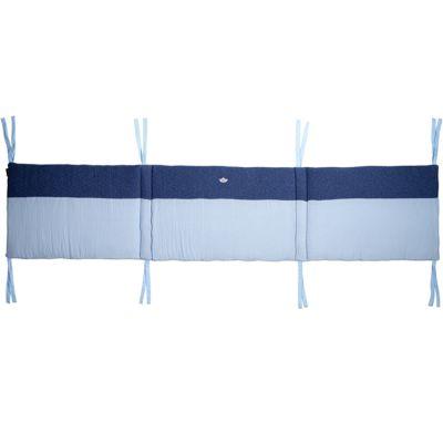 Tour de lit adaptable Nos jolis songes bleu (pour lits 60 x 120 et 70 x 140 cm)  par Candide