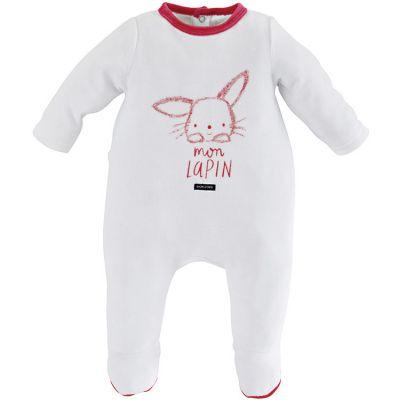 Pyjama chaud rouge Mon lapin (18 mois) Sucre d'orge
