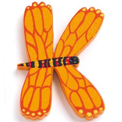 Lettre K en bois Papillon Achille  par Djeco