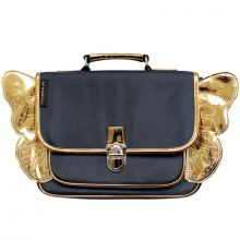 Cartable maternelle Papillon bleu et doré  par Caramel & Cie