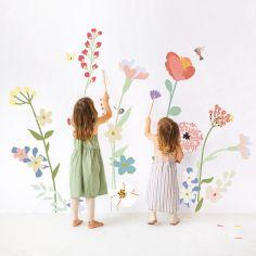 Stickers géants Fleurs de champs