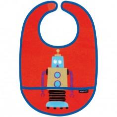 Bavoir plastifié à velcro Les Robots