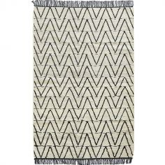 Tapis Tribu en velours de coton (90 x 140 cm)