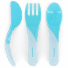 Set de 3 couverts bleu pastel