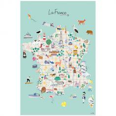 Grande affiche Carte de France (60 x 40 cm)