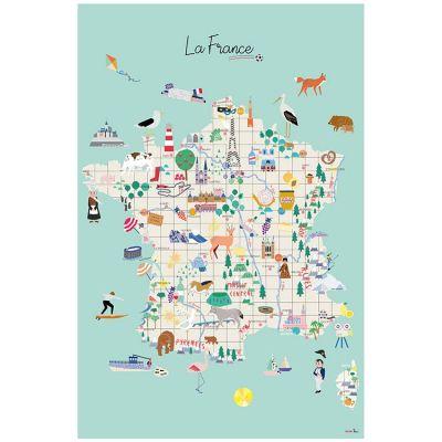 Grande affiche Carte de France (60 x 40 cm)  par Mimi'lou