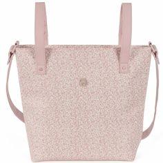 Petit sac  à langer à anses Flower mellow rose