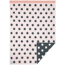 Couverture bébé en coton bio Little Chums Étoiles rose clair (75 x 100 cm)  par Lässig