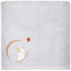 Serviette de bain grise Ours personnalisable (50 x 100 cm)