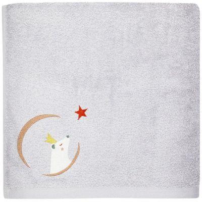 Serviette de bain grise Ours personnalisable (50 x 100 cm)  par L'oiseau bateau
