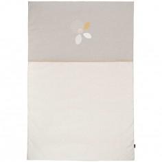 Couvre lit édredon beige et taupe (100 x 150 cm)