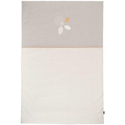 couvre lit dredon beige et taupe 100 x 150 cm candide. Black Bedroom Furniture Sets. Home Design Ideas