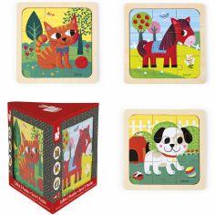 Set petits puzzles Tornado Titus Félix (3 puzzles)