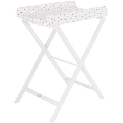 Table langer pliable trixi blanche points marrons - Table a langer pliable ...