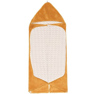 Couverture nomade Trendy wrapping Bumblebee Orange (80 x 80 cm)  par Snoozebaby