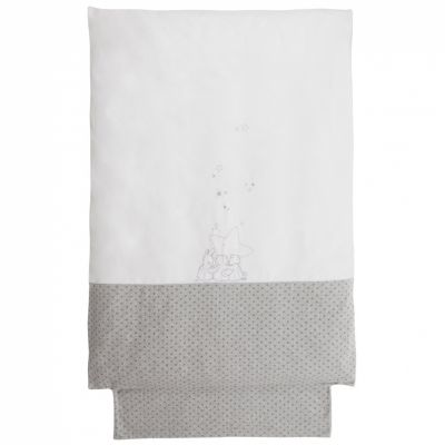 Housse de couette chaude blanc étoiles Poudre d'étoiles (100 x 140 cm)   par Noukie's