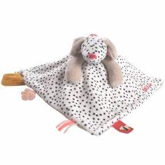 Doudou plat Tidou Amy veloudoux Amy & Zoé chien rose