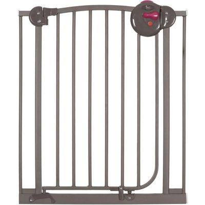Barrière de sécurité auto close en métal taupe  par Angelcare