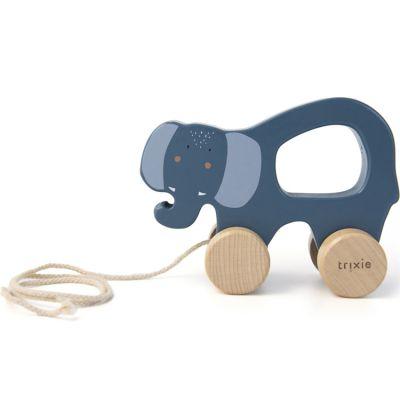 Jouet à tirer en bois Mrs. Elephant  par Trixie