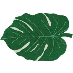 Tapis lavable Monstera Leaf vert (120 x 160 cm)