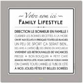 Affiche adhésive personnalisable Family Lifestyle gris galet (60 x 60 cm) - Mes Mots Déco
