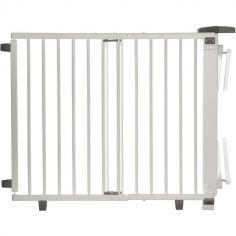 Barrière de sécurité Plus pour escalier blanche (67 à 107 cm)