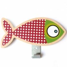 Patère poisson rouge