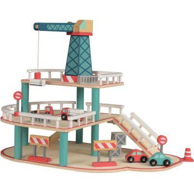 Garage en bois avec grue Egmont Toys