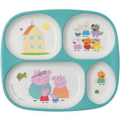 Assiette plateau à compartiments Peppa Pig Petit Jour Paris