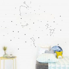 Stickers muraux phosphorescents Constellations