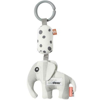 Jouet d'éveil à suspendre Elphee l'éléphant gris  par Done by Deer