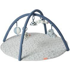 Tapis d'éveil rond avec arches bleu (90 x 90 cm)