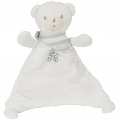 Doudou plat ours blanc (25 cm)