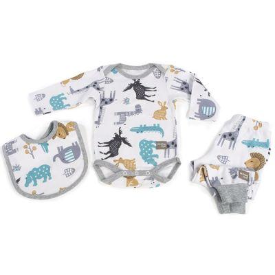 Coffret cadeau naissance 3 pièces Preschool Animaux (3-6 mois)  par Walking Mum