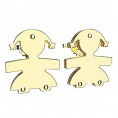 Boucles d'oreilles fille (or jaune 375°)