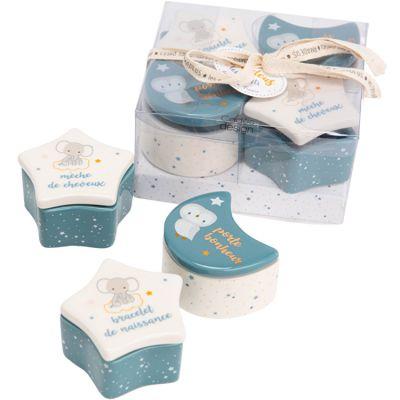 Lot de 4 boîtes à souvenirs bébé Lilian  par Amadeus Les Petits
