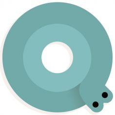 Lettre décorative escargot Q