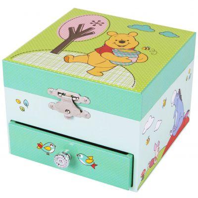 Boîte à musique cube Winnie l'ourson  par Trousselier