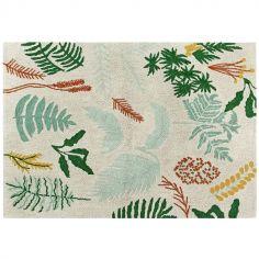 Tapis lavable Botanic Plants sur fond écru (140 x 200 cm)