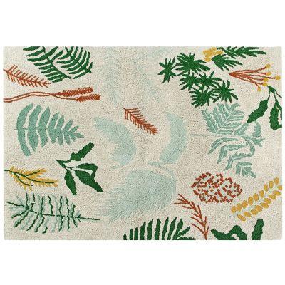 Tapis lavable Botanic Plants sur fond écru (140 x 200 cm)  par Lorena Canals