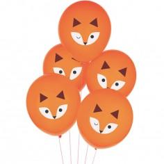 Lot de 5 ballons Renard
