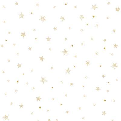 Papier peint intissé Stardust étoiles dorées (10 m)