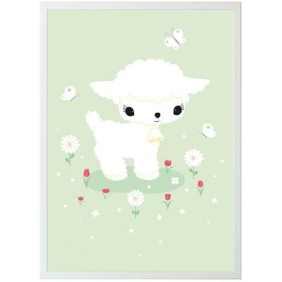 Affiche agneau (50 x 70 cm)  par A Little Lovely Company