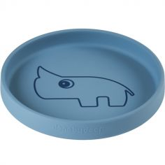 Assiette en silicone bleue Nozo le rhinocéros
