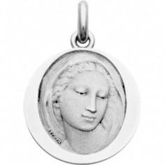 Médaille Vierge Florentine (ronde)  (or blanc 750°)