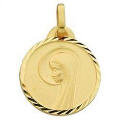 Médaille ronde de la Vierge (or jaune 375°)