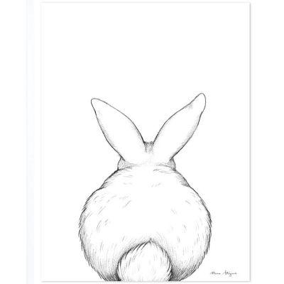 Affiche lapin de dos (30 x 40 cm)  par Lilipinso