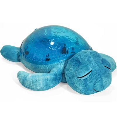 Veilleuse peluche tortue tranquille bleu turquoise  par Cloud B